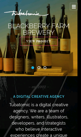 Tubatomic  Web Design