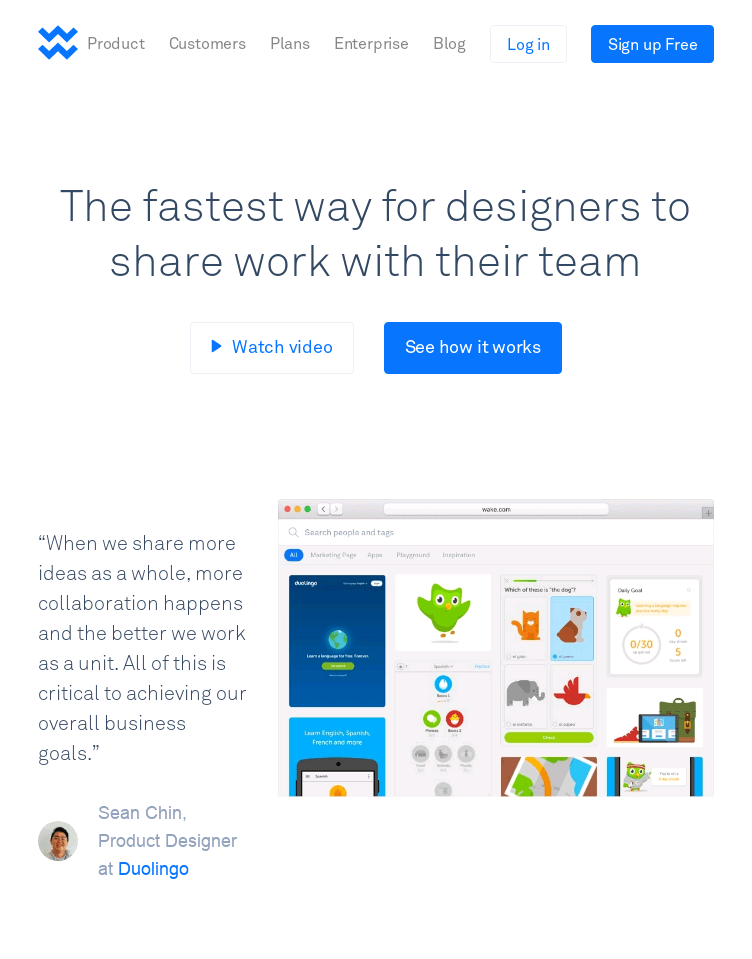 Wake Collaboration & Feedback for Teams  Web Design