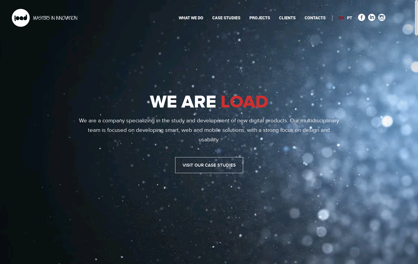 Load Interactive Website Is A Web Design Inspiration