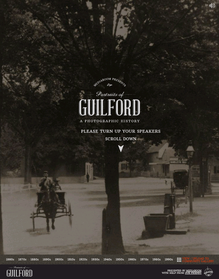 Portraits of Guilford  Web Design
