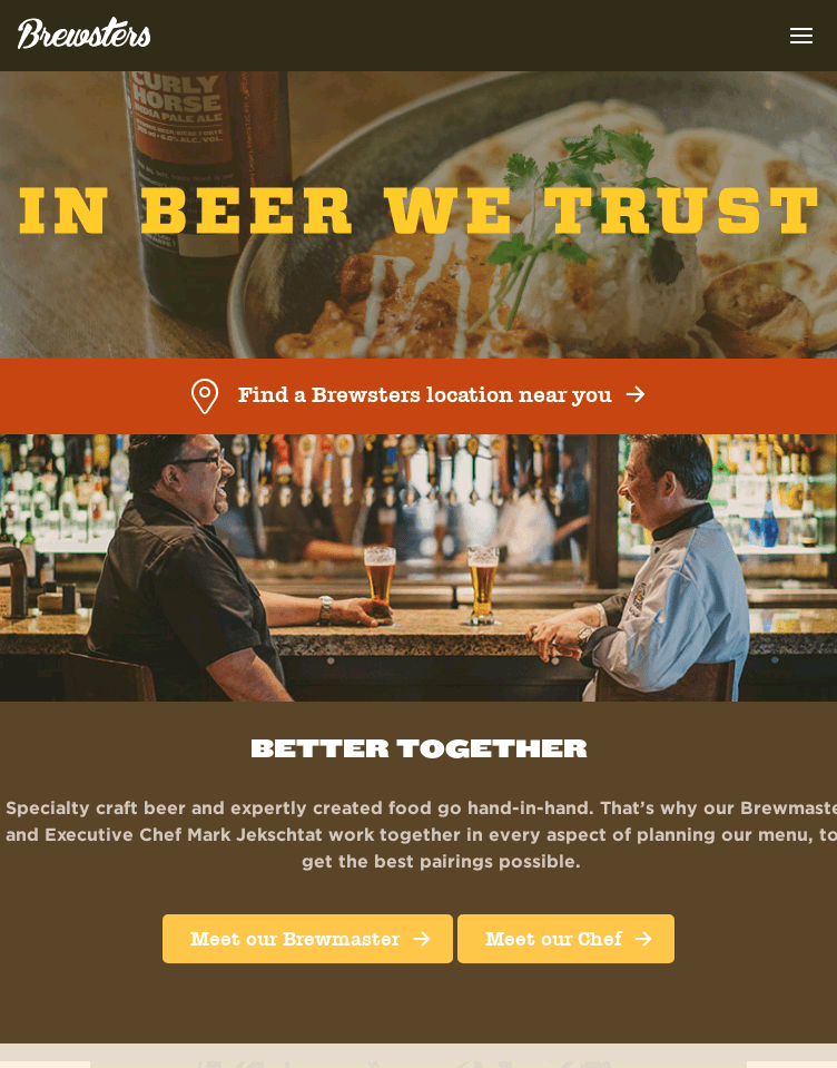 Brewsters Brewing Company  Web Design