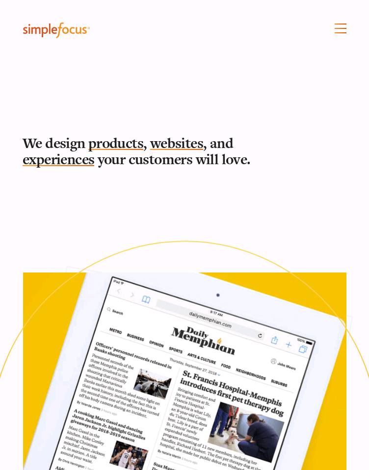 Simple Focus  Web Design