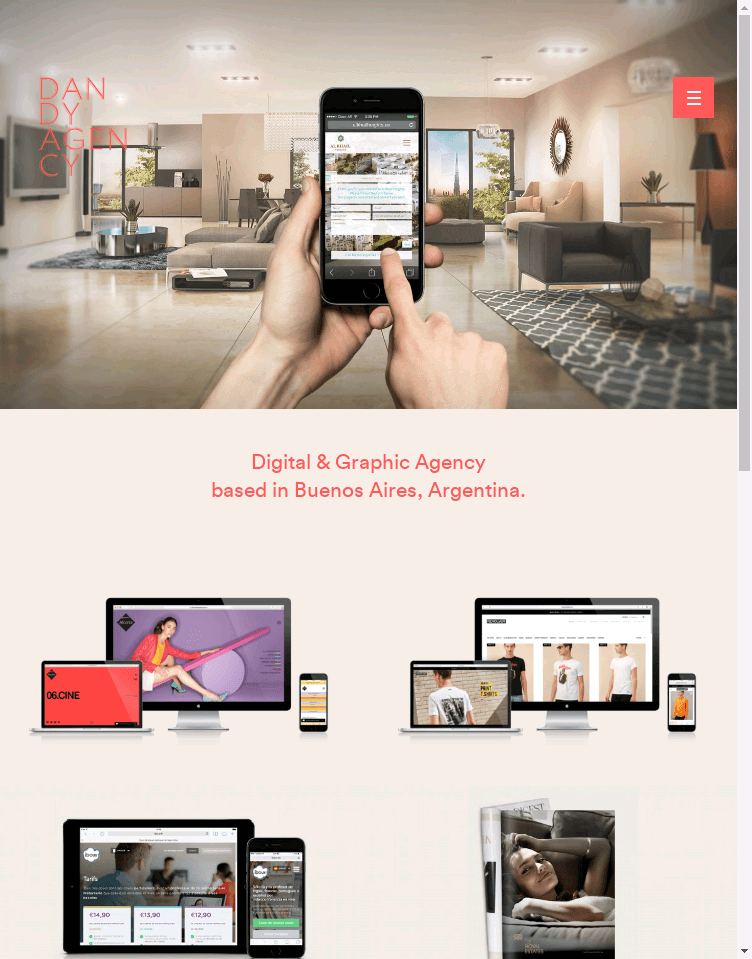 Dandy Agency  Web Design