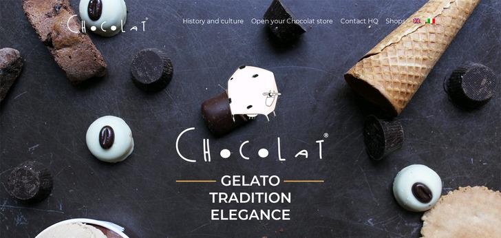 Chocolat milano website has a great web design best web for Web designer milano