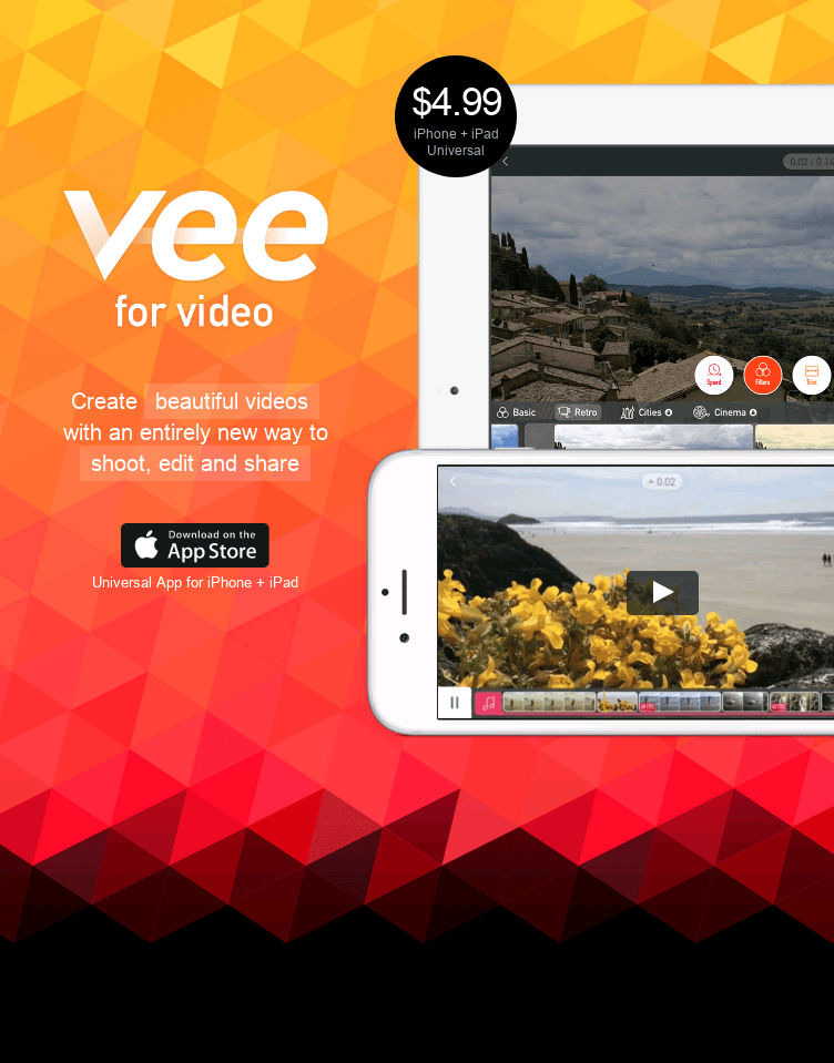 Vee for Video  Web Design