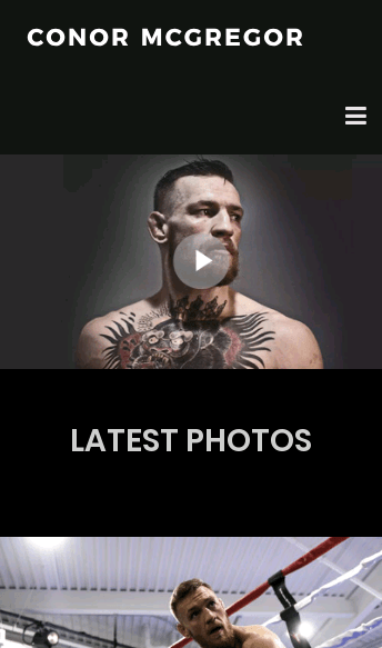Conor Mcgregor  Web Design