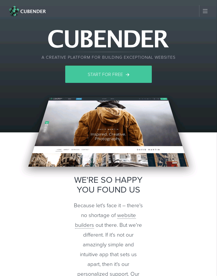 Cubender  Web Design