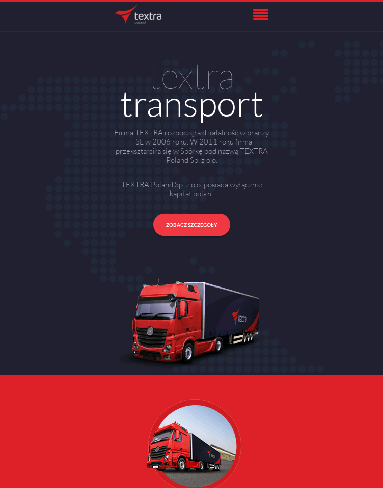 Textra Transport  Web Design