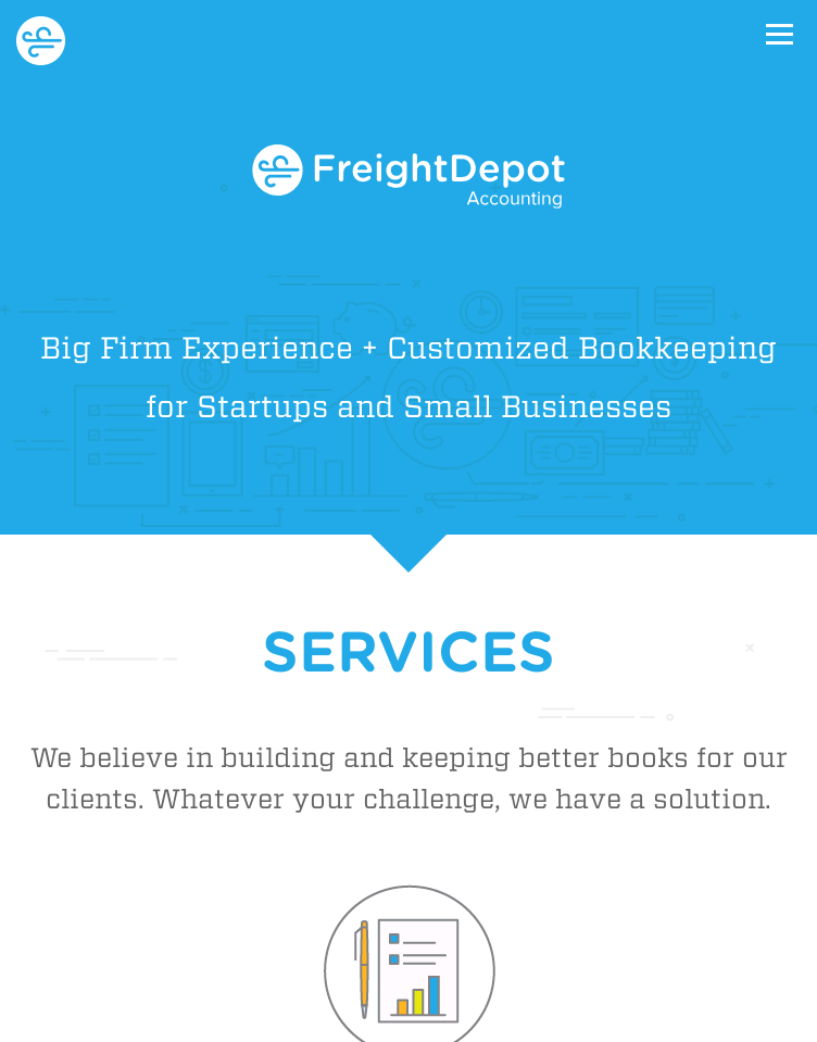 Freight Depot Accounting  Web Design