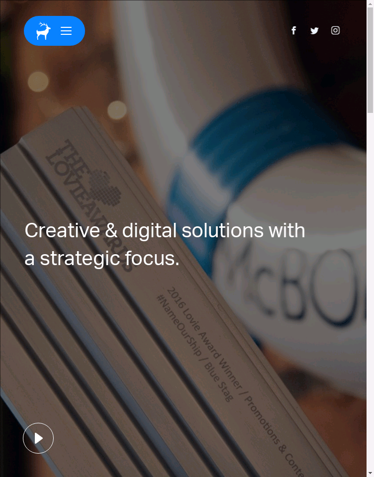 Blue Stag Creative & Digital Agency  Web Design