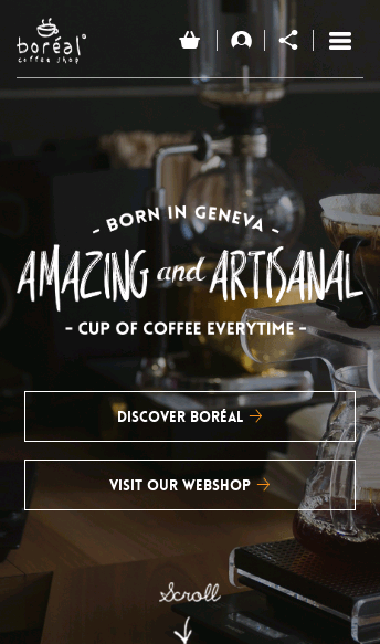 Boréal Coffee Shop  Web Design