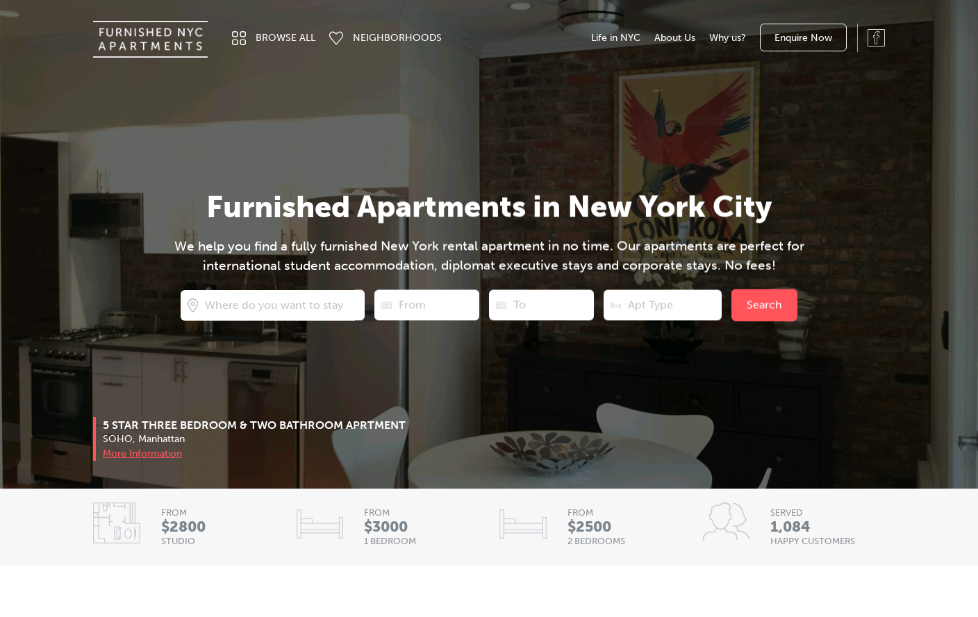 Furnished NYC Apartments