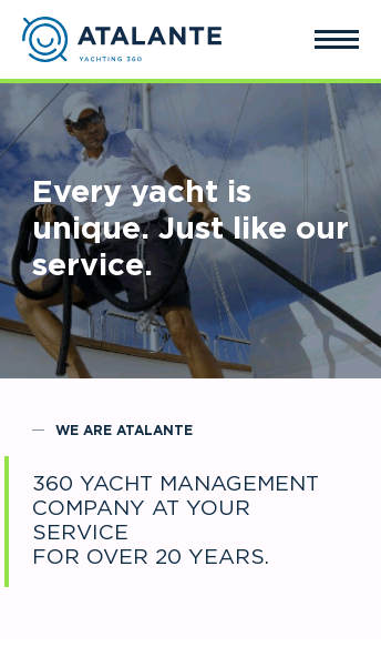 Atalante Yacht Management  Web Design
