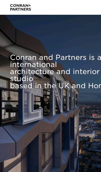 Conran and Partners  Web Design