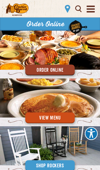 Cracker Barrel  Web Design