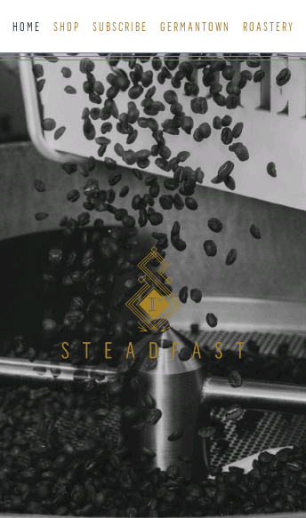 Steadfast Coffee  Web Design