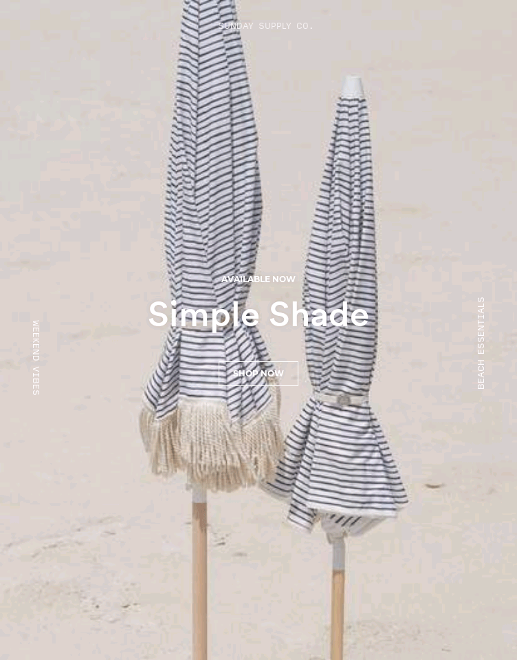 Sunday Supply Co.  Web Design