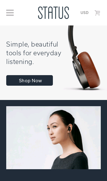 Status Audio Headphones  Web Design