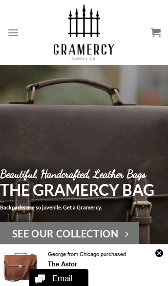 Gramercy Supply Co.  Web Design