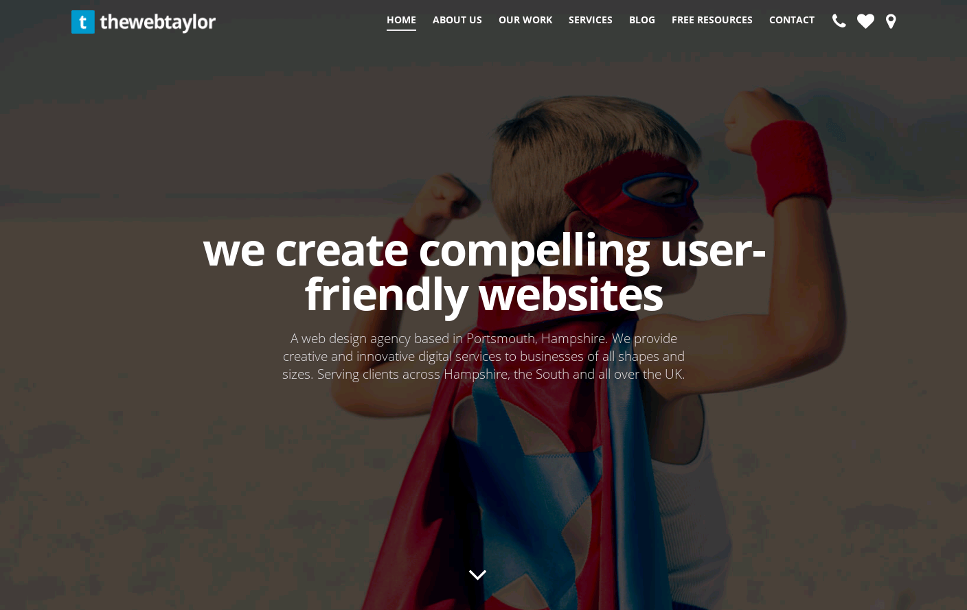 The Web Taylor Website Is A Web Design Inspiration