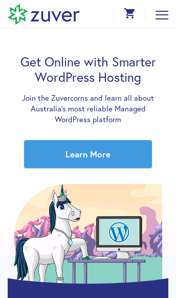Zuver WordPress Hosting  Web Design