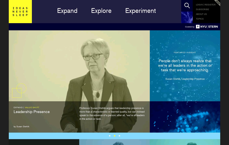 Ideas Never Sleep website has a Great Web Design   Best Web ...