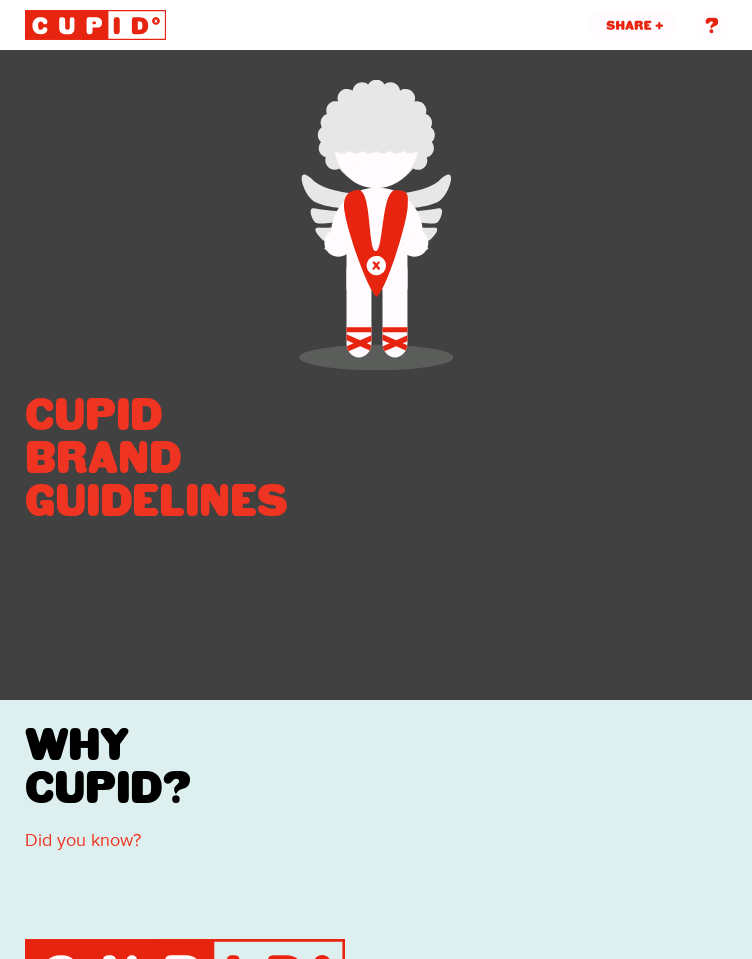 Funny brand guidelines for Cupid  Web Design