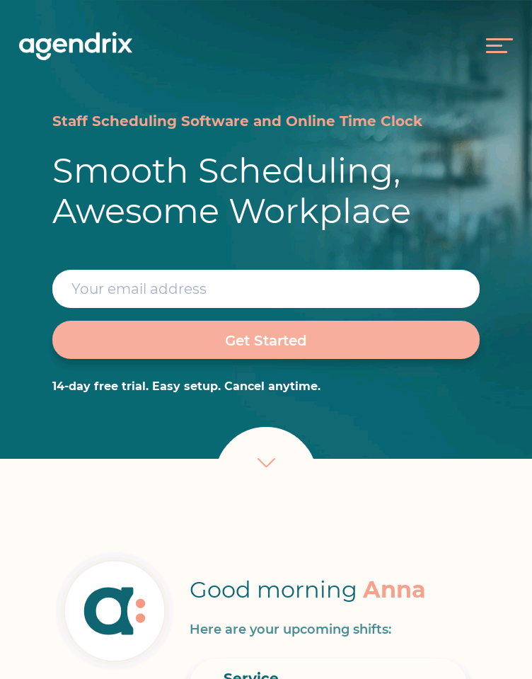 Agendrix Staff Scheduling Software  Web Design