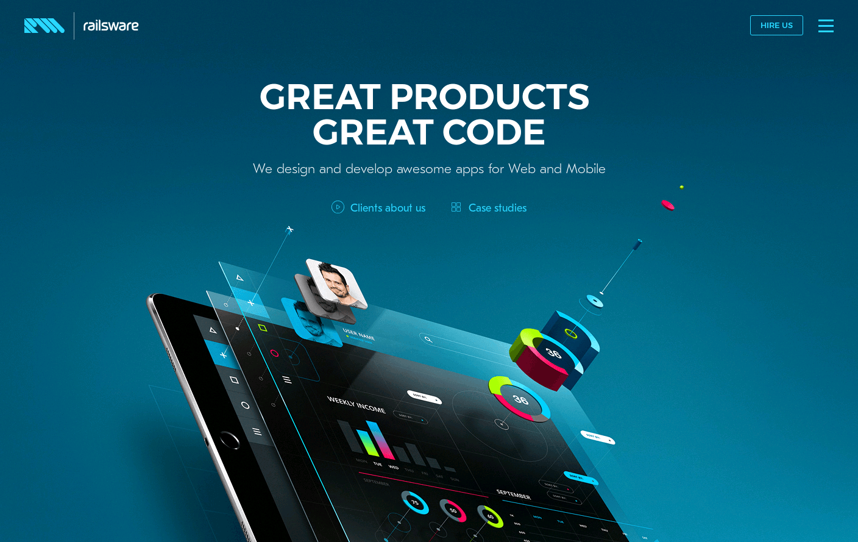 railsware Website is a Web Design Inspiration