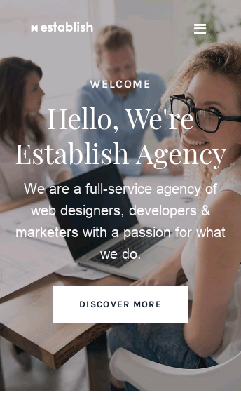Establish Agency  Web Design