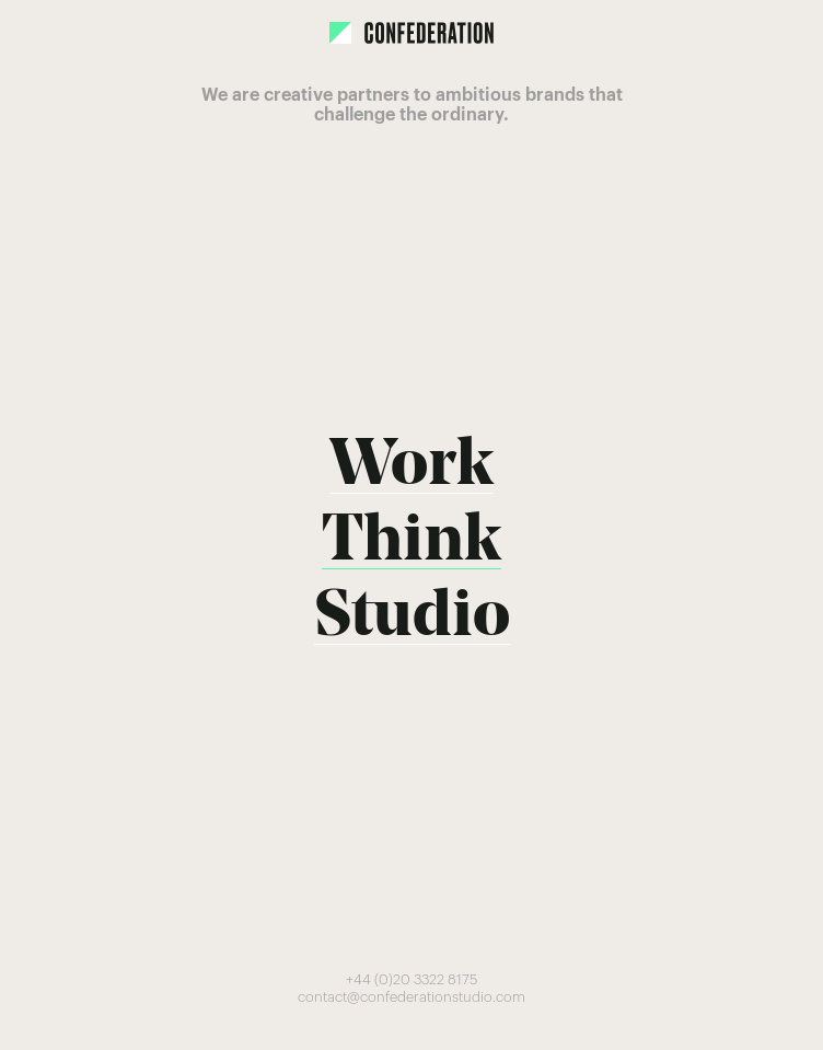 Confederation Studio  Web Design