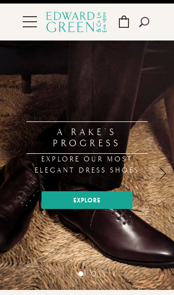 Edward Green | Home | Men's English Shoes since 1890  Web Design