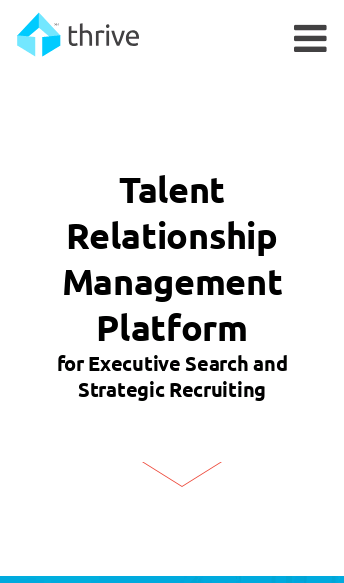 Thrive Talent Relationship Management Software  Web Design