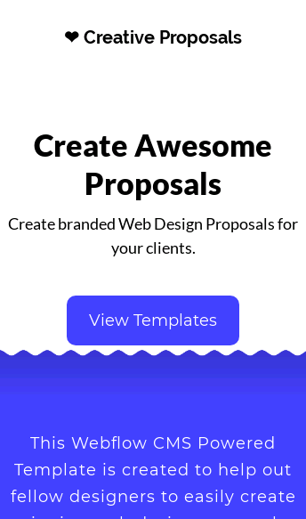 Creative Proposals  Web Design