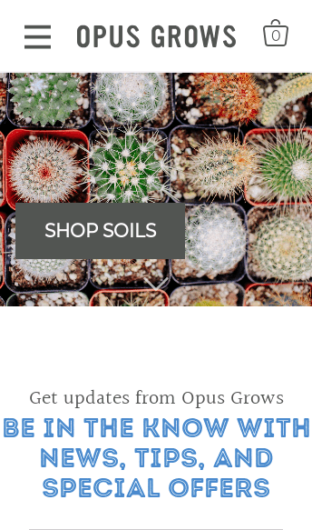 Opus Grows  Web Design