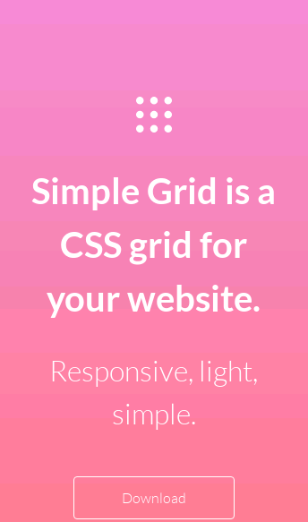 Simple Grid  Web Design