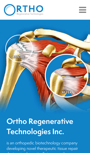 Ortho Regenetative Technologies  Web Design