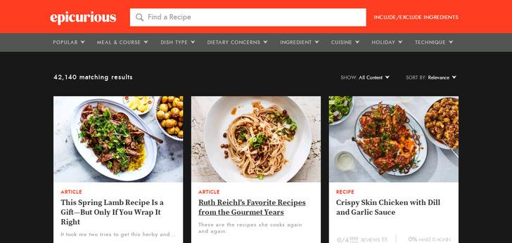 Best magazine blog websites web design inspirations epicurious visit website forumfinder Gallery