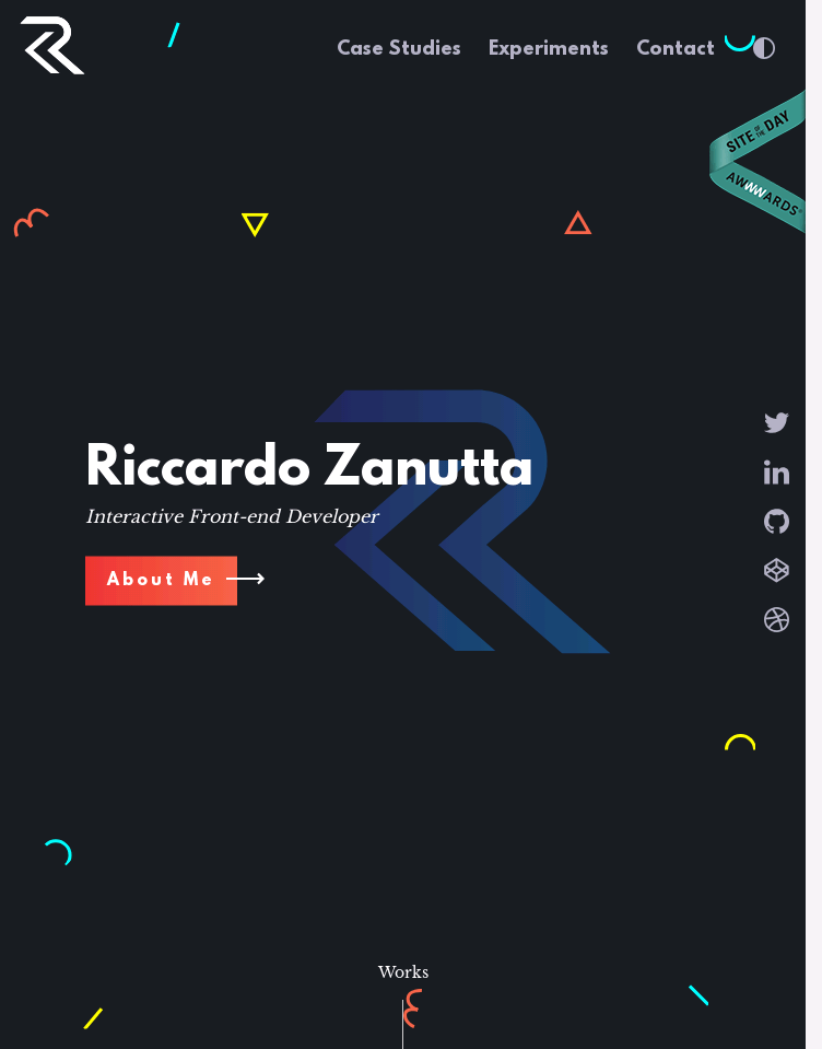 Riccardo Zanutta Frontend Developer  Web Design