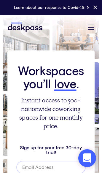 Deskpass Coworking & Shared Office  Web Design