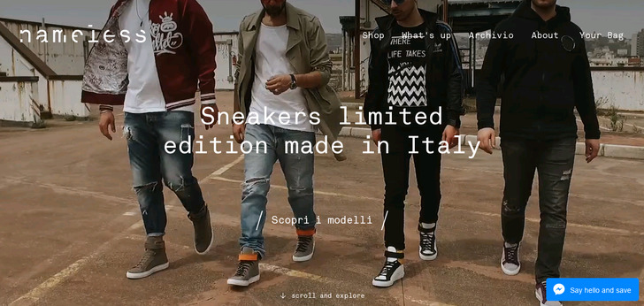 Nameless Online Shop | Handcrafted sneakers