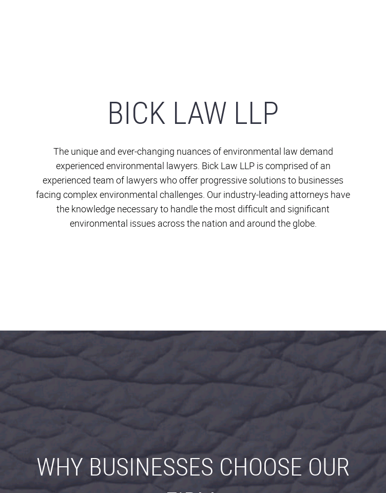 Bick Law   Web Design
