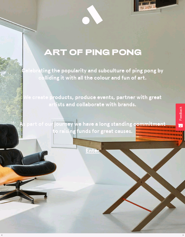 The Art of Ping Pong  Web Design