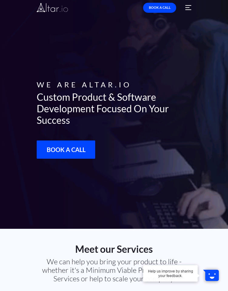 Altar.io  Web Design
