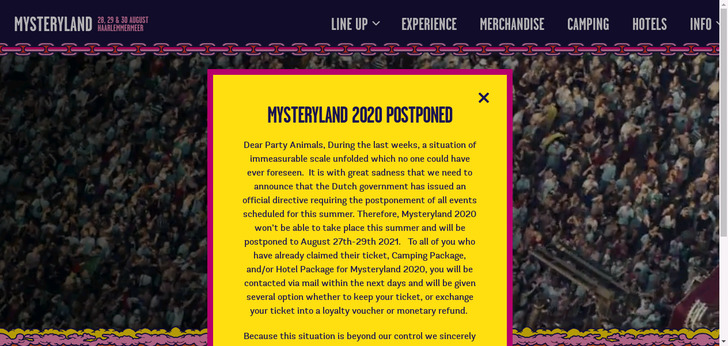 Mysteryland | 23 until 26 August 2019 | Haarlemmermeer, near Amsterdam