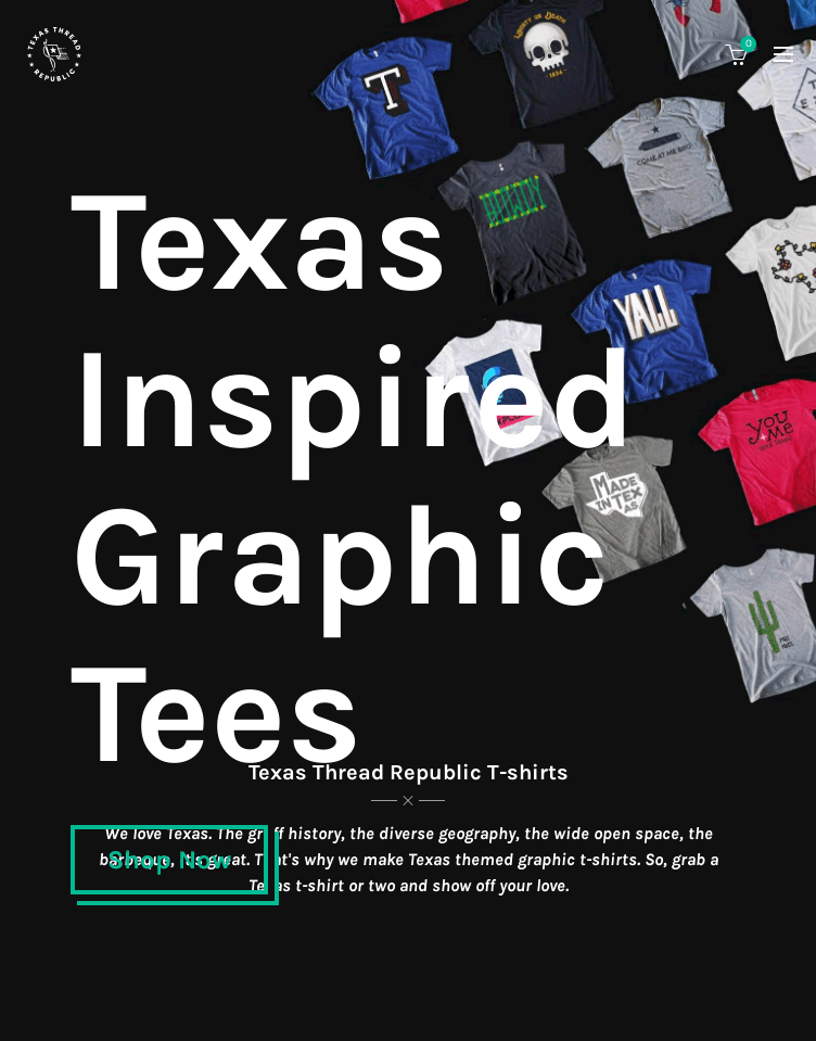 Texas Thread Republic  Web Design