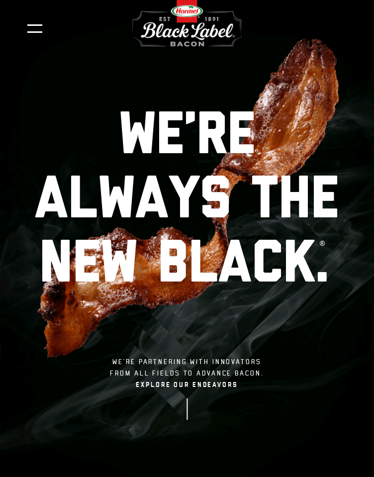BLACK LABEL® Bacon  Web Design