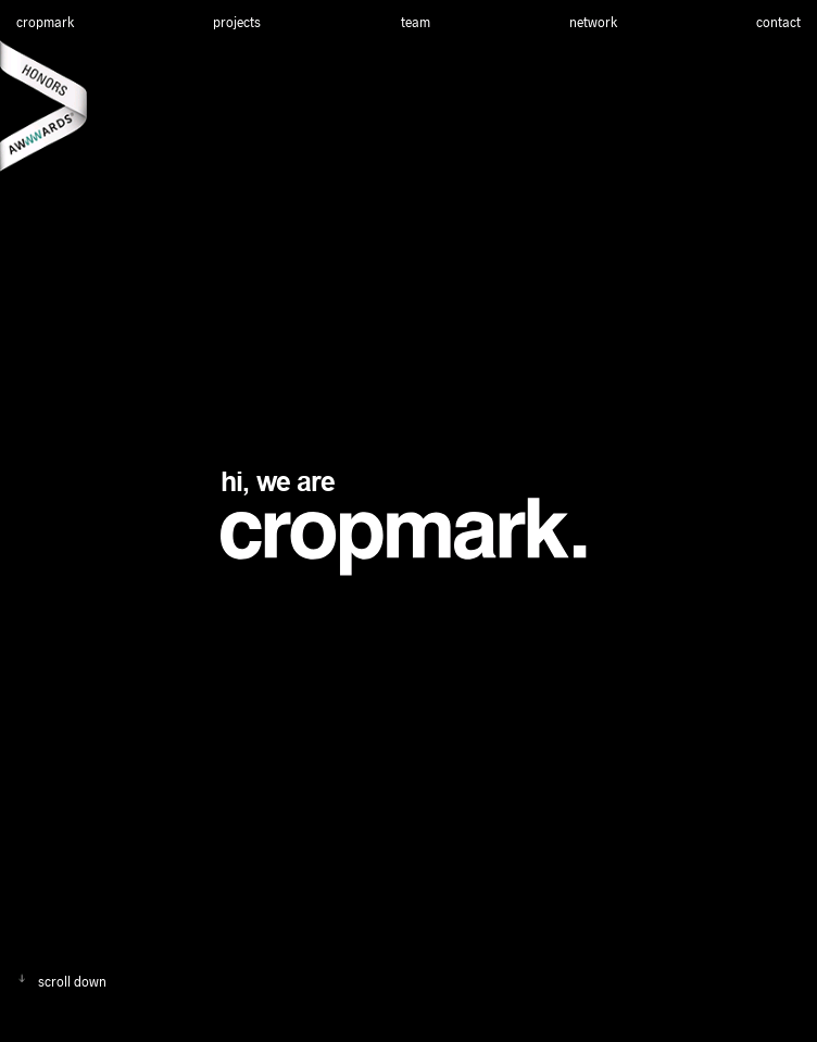 cropmark. creative studio  Web Design