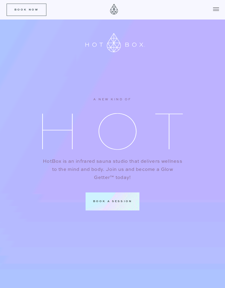 HotBox Infrared Sauna Studio  Web Design
