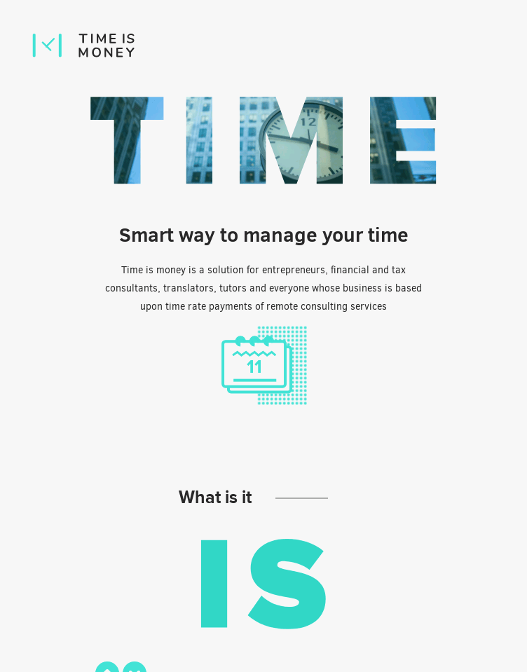 Time is money  Web Design